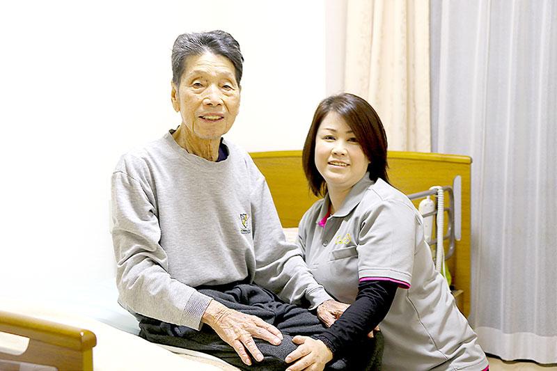 ケアリングの小規模多機能型居宅介護は「通い」「泊まり」「訪問」もなじみのスタッフで安心。